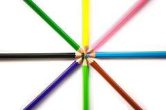 Lápis multicoloridos uma cor isolada Imagem de Stock