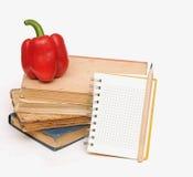 Lápis no caderno fotografia de stock