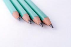 Lápis no fundo branco Fotografia de Stock