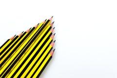 Lápis preto e amarelo das listras fotos de stock royalty free