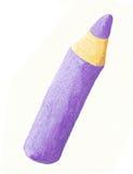 Lápis roxo da cor Imagem de Stock Royalty Free
