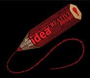 Lápis tipográfico creativo Imagem de Stock
