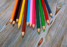 Lápis Tiragem com um lápis Aprendizagem desenhar Foto de Stock