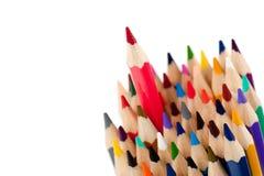 Lápis vermelho - líder fotos de stock royalty free