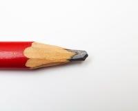 Lápis vermelho no branco Imagem de Stock