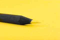 Lápiz amarillo Foto de archivo libre de regalías