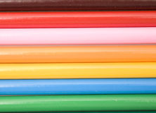 Lápiz coloreado seccionado transversalmente Fotos de archivo libres de regalías