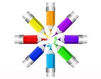 Lápiz colorido del color Fotos de archivo libres de regalías