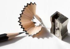Lápiz con la basura del lápiz Imagen de archivo libre de regalías