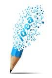 Lápiz creativo en blanco Imagen de archivo libre de regalías
