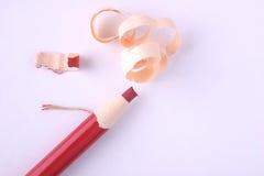 Lápiz de la etiqueta de plástico de Peelable (fondo blanco) Fotos de archivo