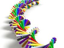 Lápiz del arco iris Imagen de archivo
