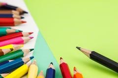 Lápiz del color en el papel Fotografía de archivo libre de regalías
