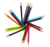 Lápiz del color en vidrio Imagen de archivo libre de regalías