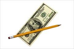 Lápiz del dinero Fotos de archivo