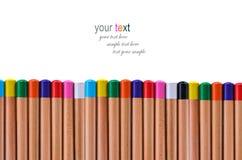 Lápiz del multicolor del botón Fotografía de archivo libre de regalías