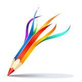 Lápiz del vector del arte visual stock de ilustración