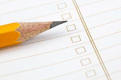 Lápiz en el papel Fotografía de archivo