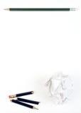 Lápiz en el papel Fotografía de archivo libre de regalías