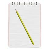 Lápiz en notebook2 Imagen de archivo