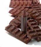 Lápiz labial del chocolate Imagenes de archivo