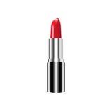 Lápiz labial rojo Colección del maquillaje Plantilla del vector aislada Fotos de archivo