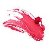 Lápiz labial rojo manchado Foto de archivo libre de regalías