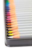 Lápiz multicolor, arreglo en rectángulo Imagenes de archivo