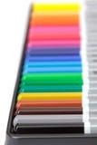 Lápiz multicolor, arreglo en rectángulo Foto de archivo libre de regalías