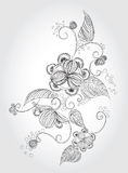 Lápiz que bosqueja la flor libre illustration