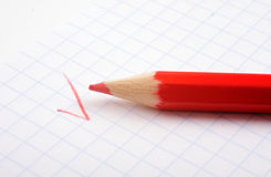 Lápiz rojo Imágenes de archivo libres de regalías