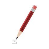 Lápiz rojo - ejemplo Imágenes de archivo libres de regalías