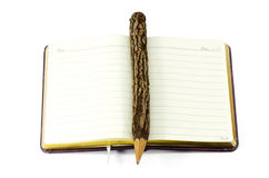 Lápiz y libro. imágenes de archivo libres de regalías