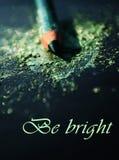 Lápiz y sombra de ojos verdes hermosos para el maquillaje Fotografía de archivo libre de regalías