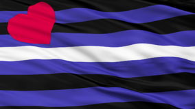 Látex de cuero y BDSM Pride Close Up Waving Flag ilustración del vector