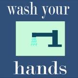 Lávese las manos Ilustración del Vector