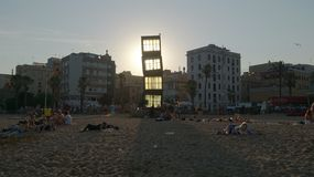 L'Estel Ferit - Basztowy sześcian Barcelona Obrazy Royalty Free