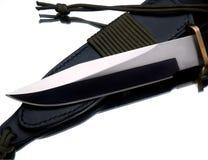 Lâmina de faca da caça no branco Fotografia de Stock Royalty Free