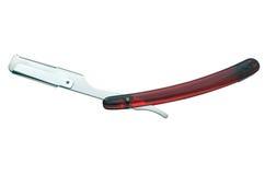 A lâmina de segurança velha isolada no branco Fotografia de Stock Royalty Free