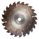 Lâmina de serra circular velha imagens de stock