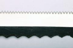 lâmina de serra de aço da textura Imagens de Stock
