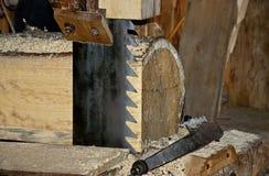 Lâmina de serra em uma serração do 19o século Foto de Stock Royalty Free