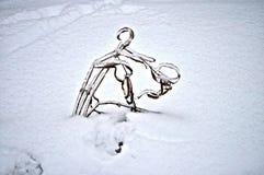 Lâmina e gelo Imagens de Stock Royalty Free