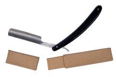 A lâmina e o caso afiados abertos velhos. Fotos de Stock