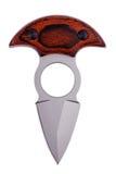 Lâmina Sharpened do metal com punho trançado Foto de Stock