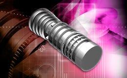 Lâminas da propulsão do motor de jato da turbina de gás Imagens de Stock