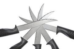 Lâminas de faca Imagens de Stock