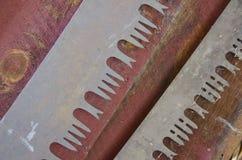 Lâminas de serra de fender velhas imagem de stock