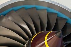 Lâminas de turbina do jato Fotos de Stock Royalty Free