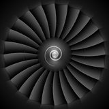 Lâminas de turbina do motor de jato Imagem de Stock Royalty Free